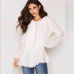 Free People Soul Serene Blouse NWT in Ivory